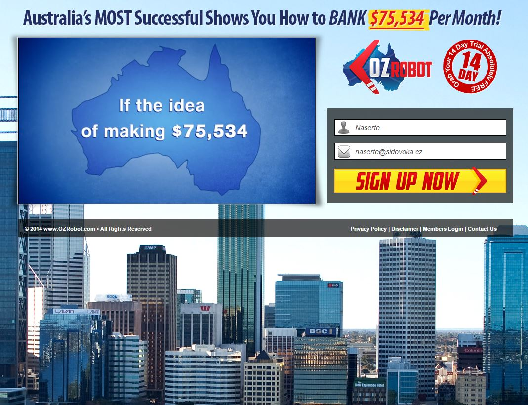 binary options robot australia time