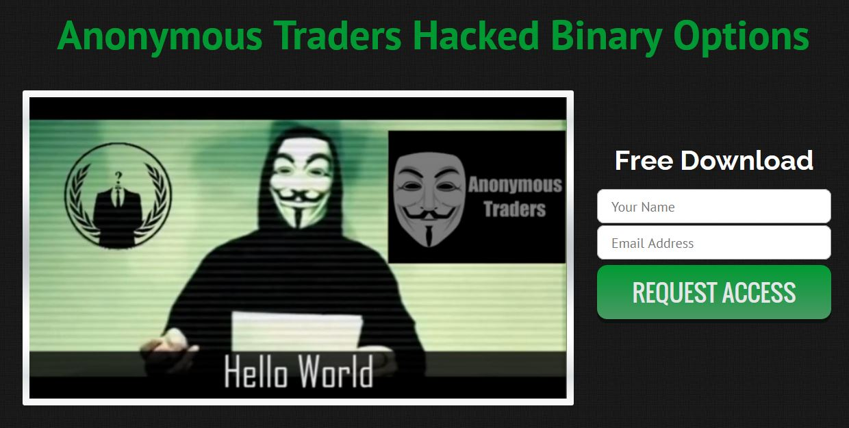 Binary options anonymous