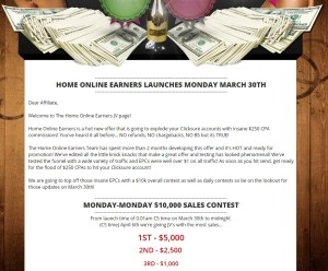 Home Online Earners web site