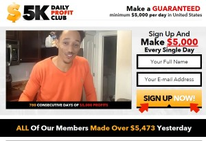 $5K Daily Profit Club web site