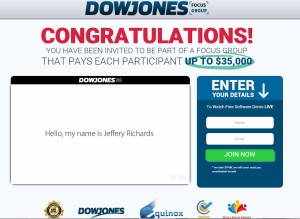 Dow Jones Focus Group web site