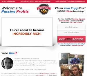 Passive Profits web site