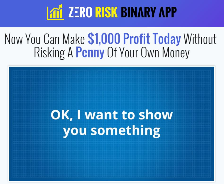 Binary option zero risk