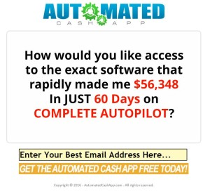 Automated Cash App web site