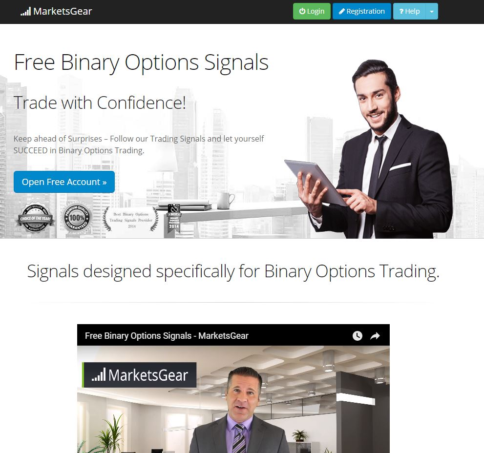 Binary options trading service