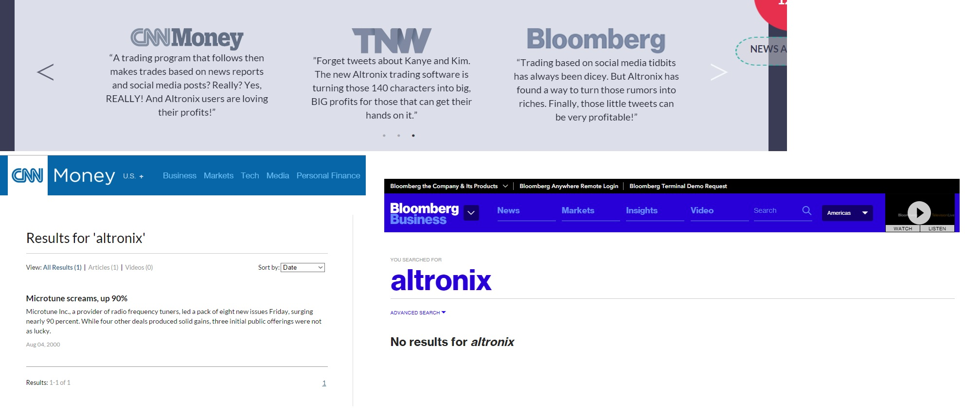 On the Altronix Trading Bot web page you can see some quotes about