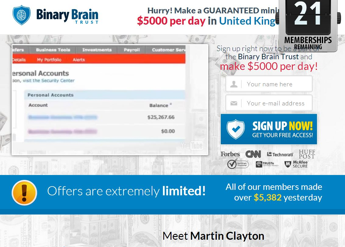 binary options brain review sites