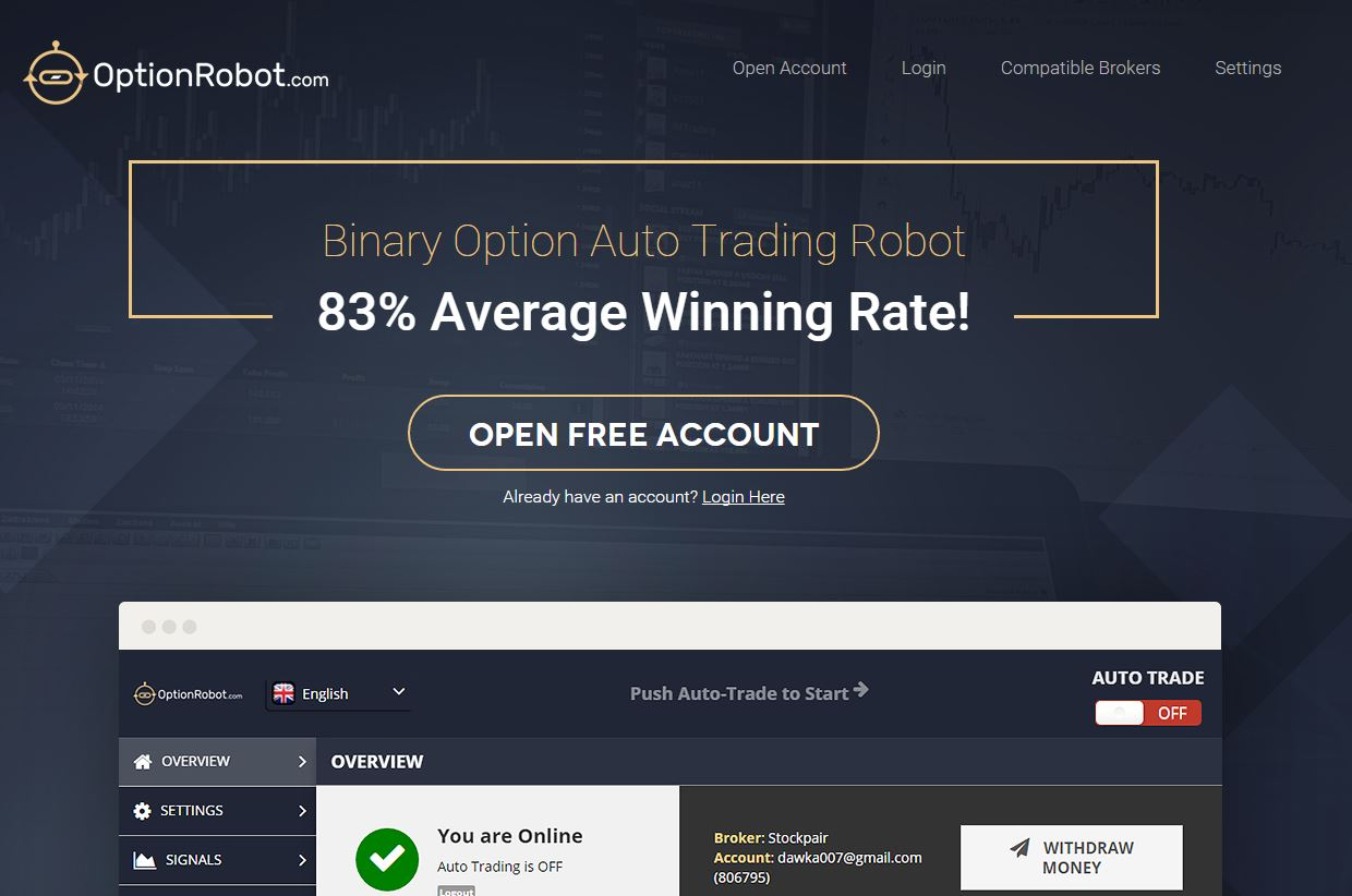 Signals with binary options robot login