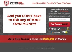Zero Risk Trading web site