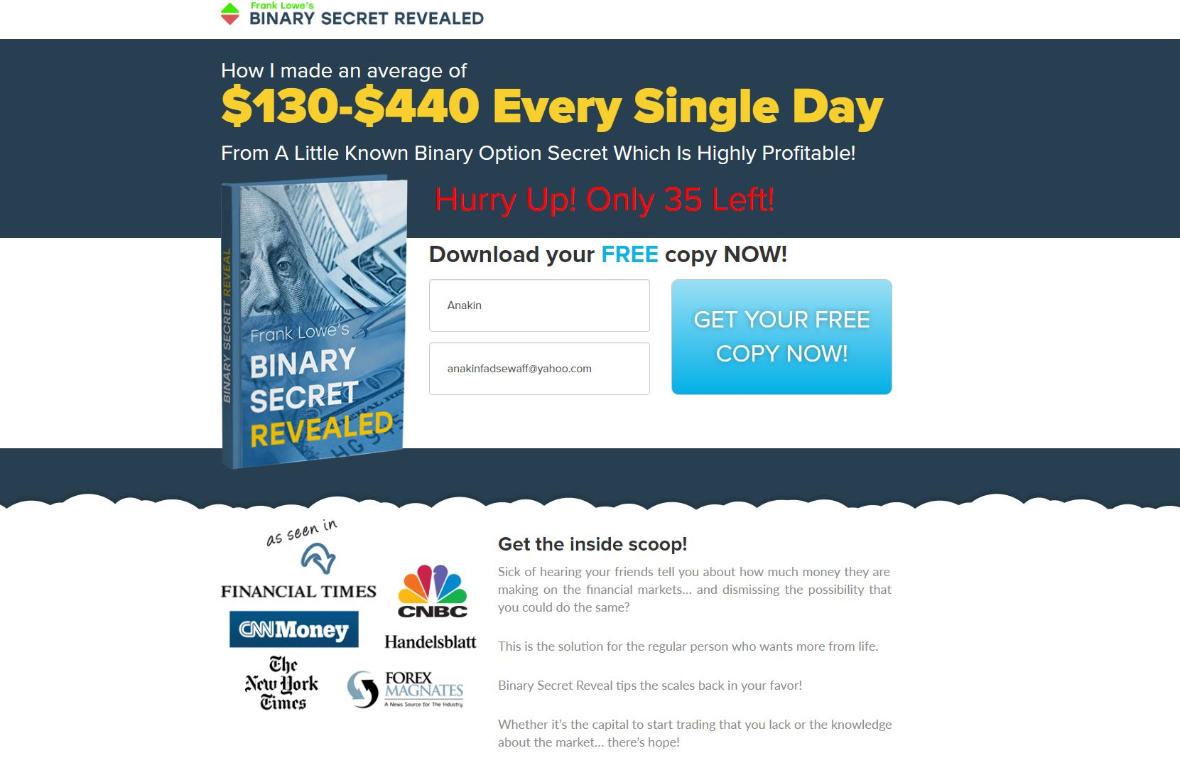 the binary option secret reviews