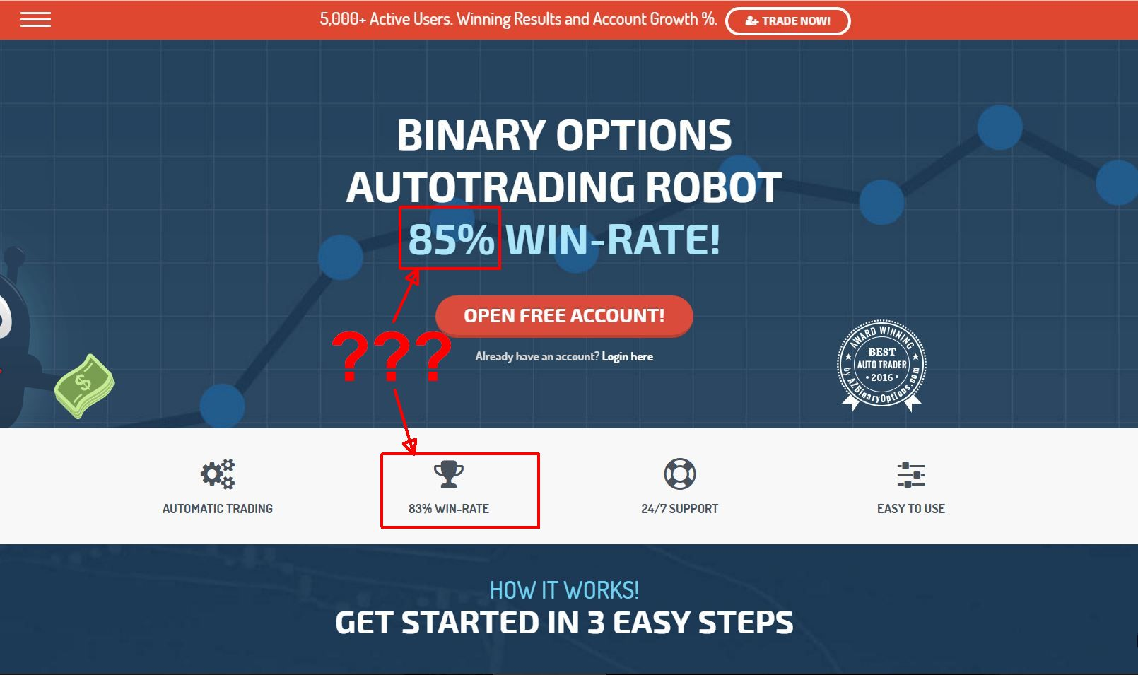 binary options robot results transformation