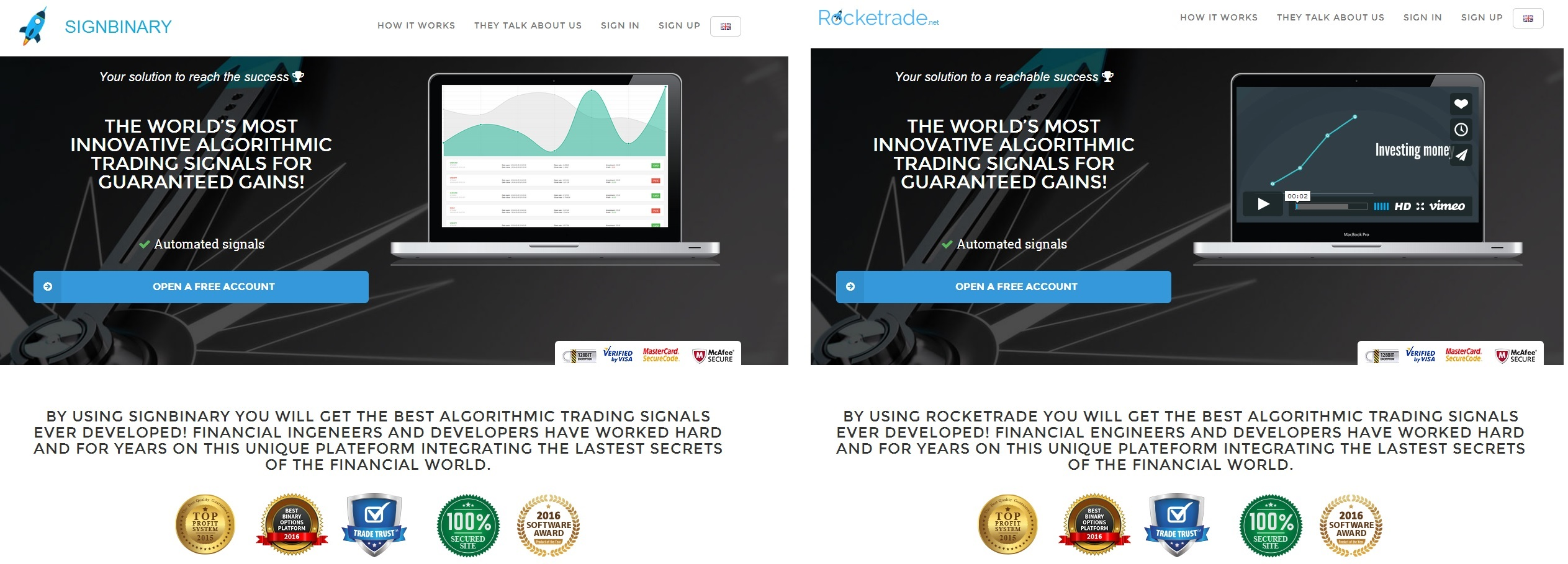 Legit binary options websites