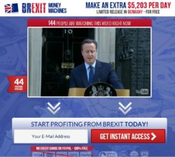 Brexit Money Machines website