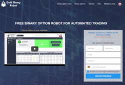 Gold Binary Robot website
