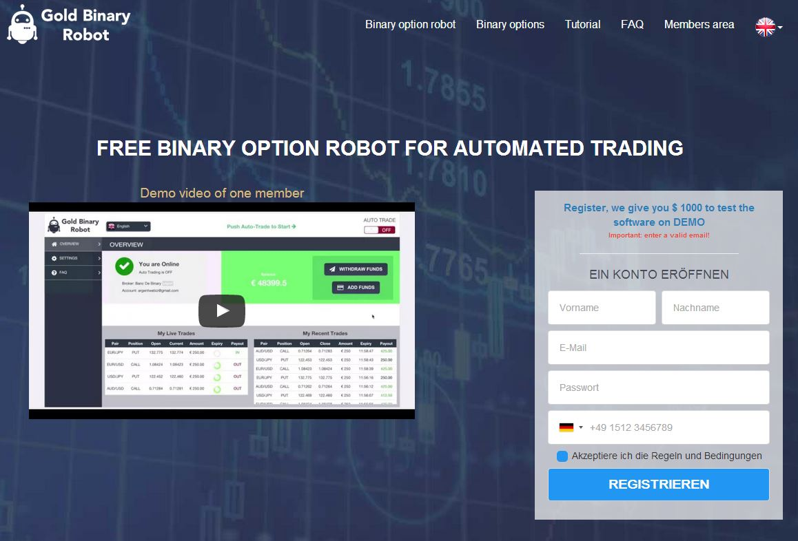 Binary option robot review 2017