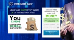 Currencies Club website