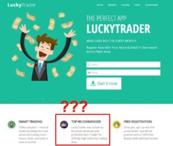 Lucky Trader website
