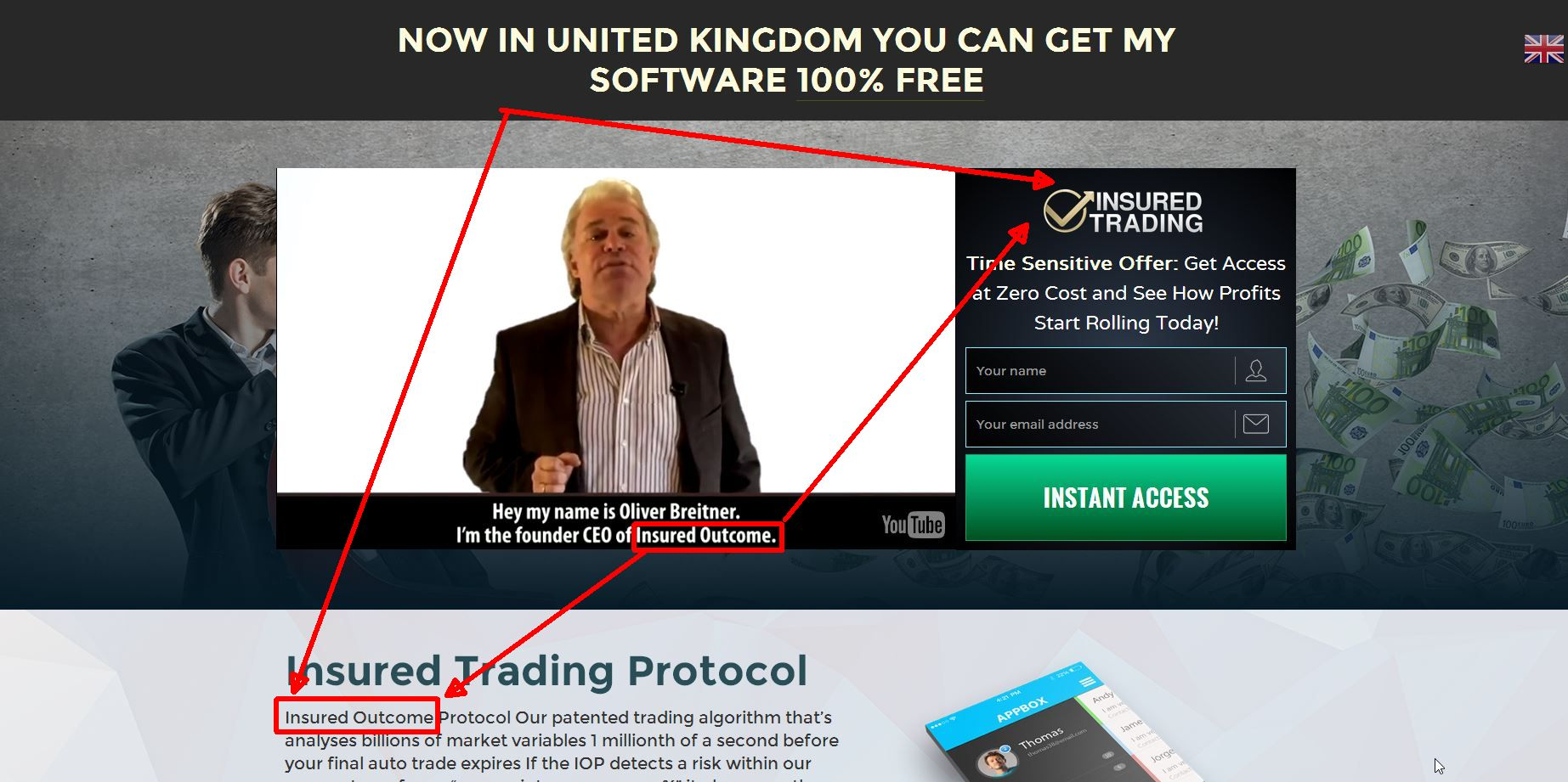 Insured trading binary options scam