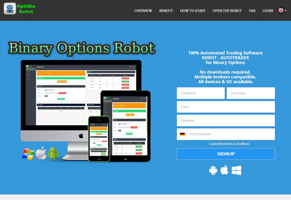 Binary option robot best settings