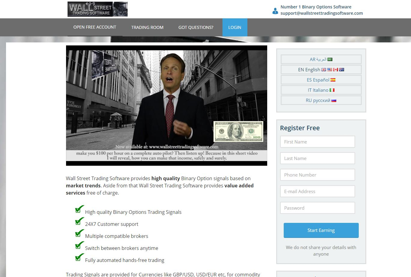 Binary options wall street