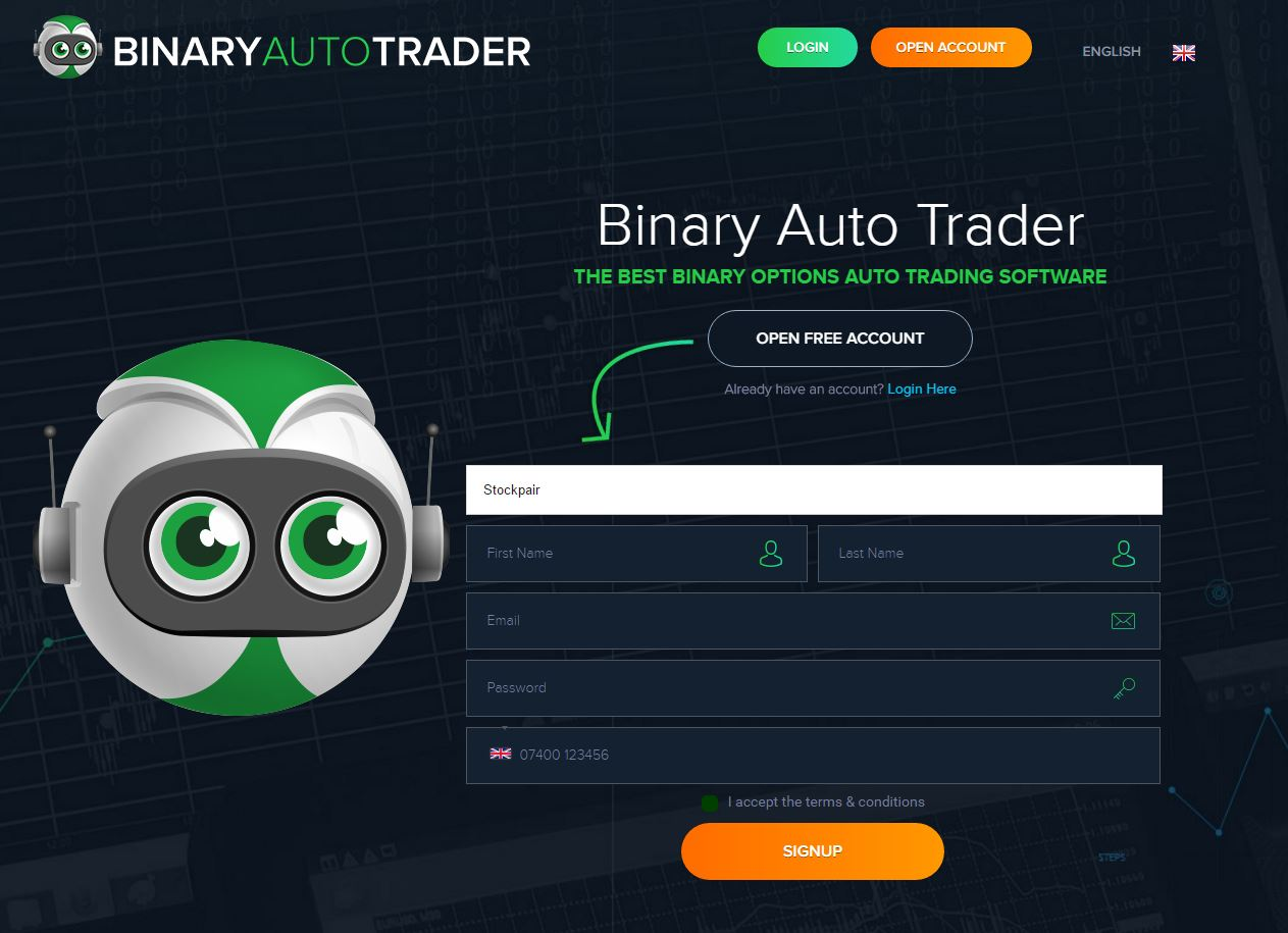 Free binary options auto trader