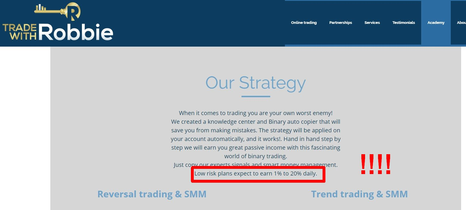 Is it safe to trading binary options demo account