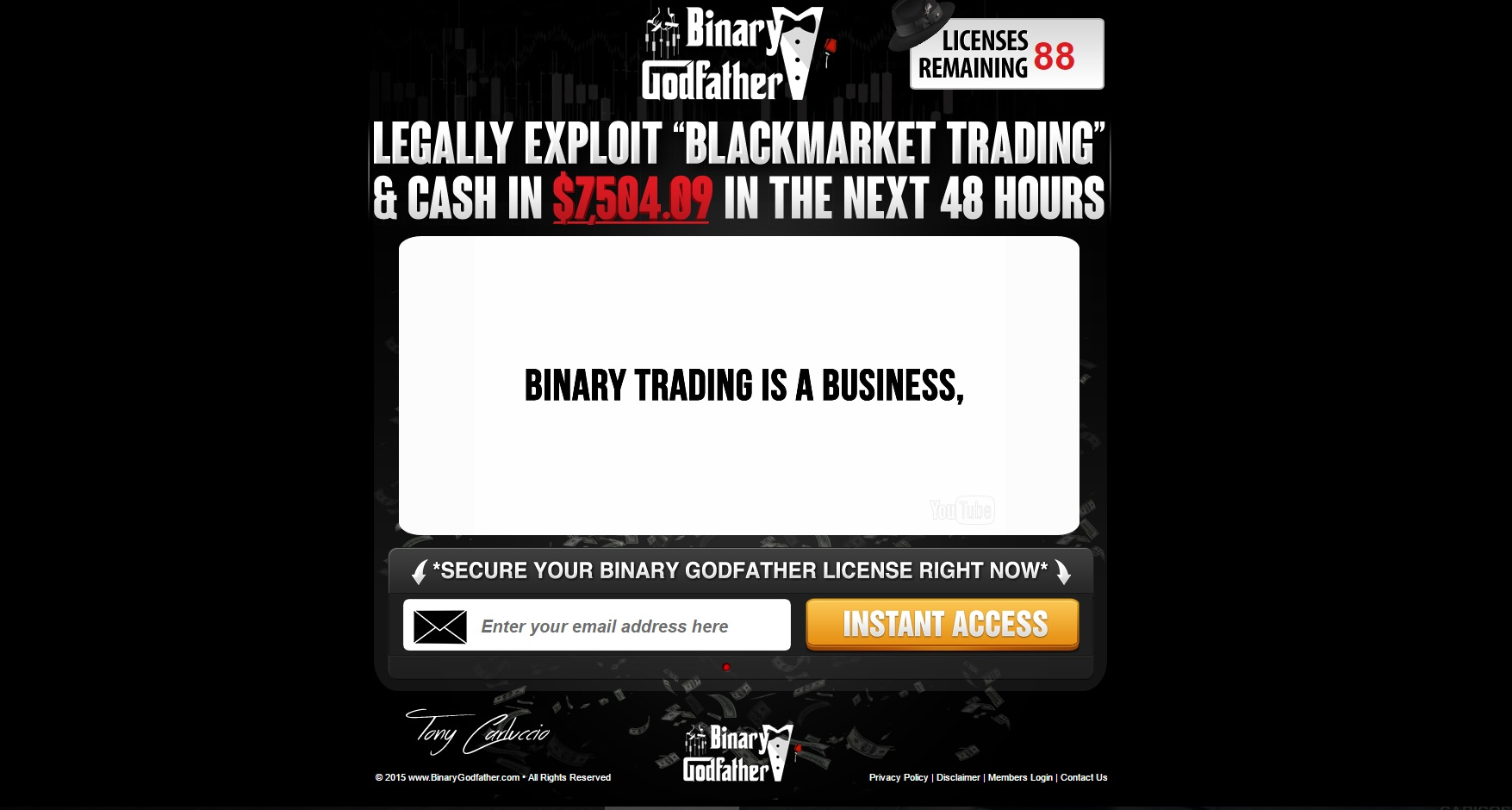Binary options trading fraud