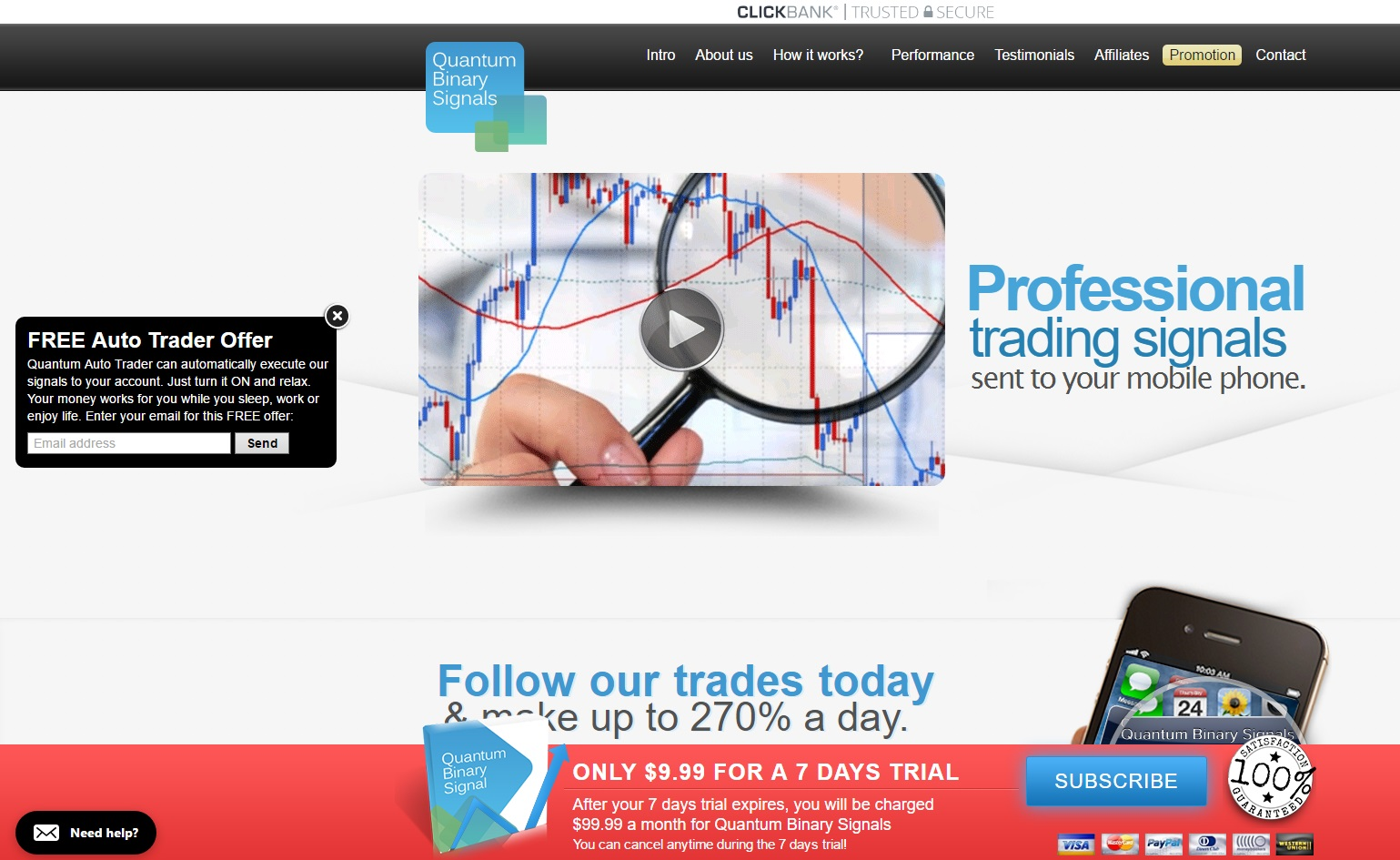 My binary option system free