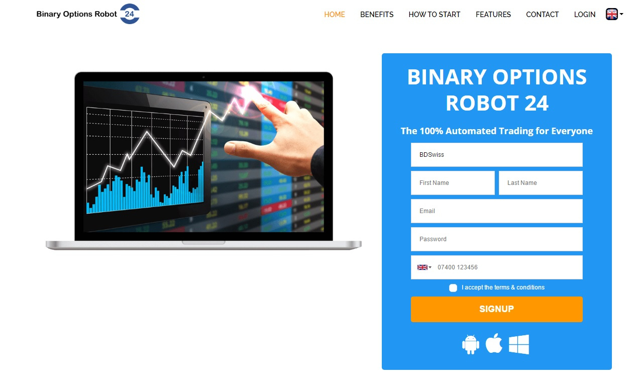 Trade binary options robot