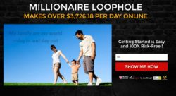 The Millionaire Loophole website
