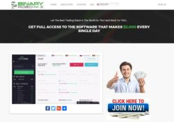 Binary Robo X website