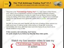 Full Arbitrage Trading Tool of Mike Perona