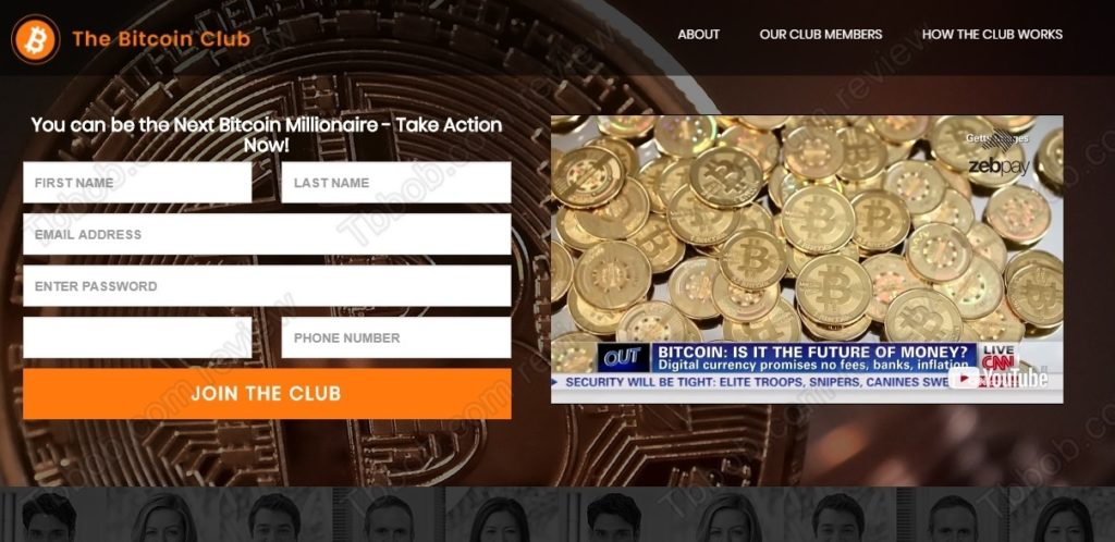 Bitcoin Club website