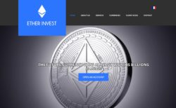 Ether Invest website
