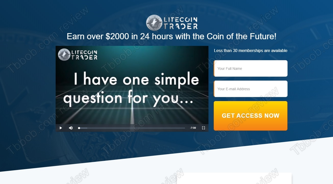 EXCLUSIVE SCAM: Litecoin Trader review