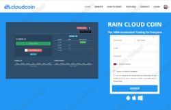 Rain Cloud Coin website
