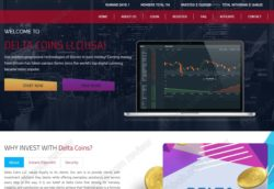 Delta Coins website