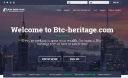 BTC Heritage website